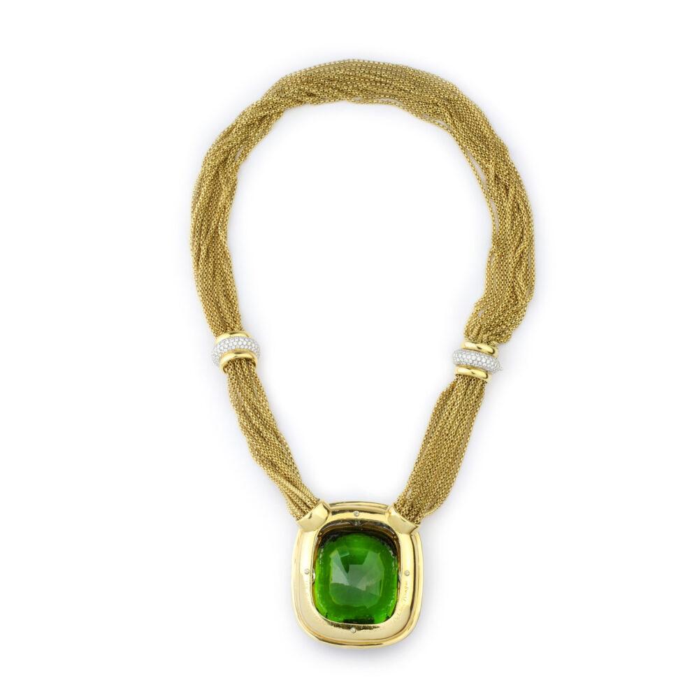 Tiffany & Co. Paloma Picasso Diamond and Peridot Necklace
