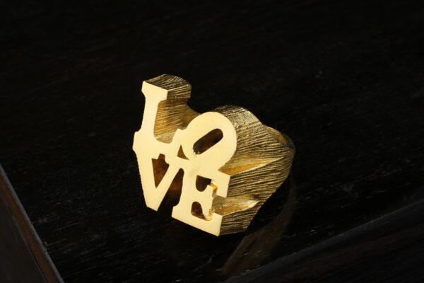 Robert Indiana'LOVE' Gold Tone Ring