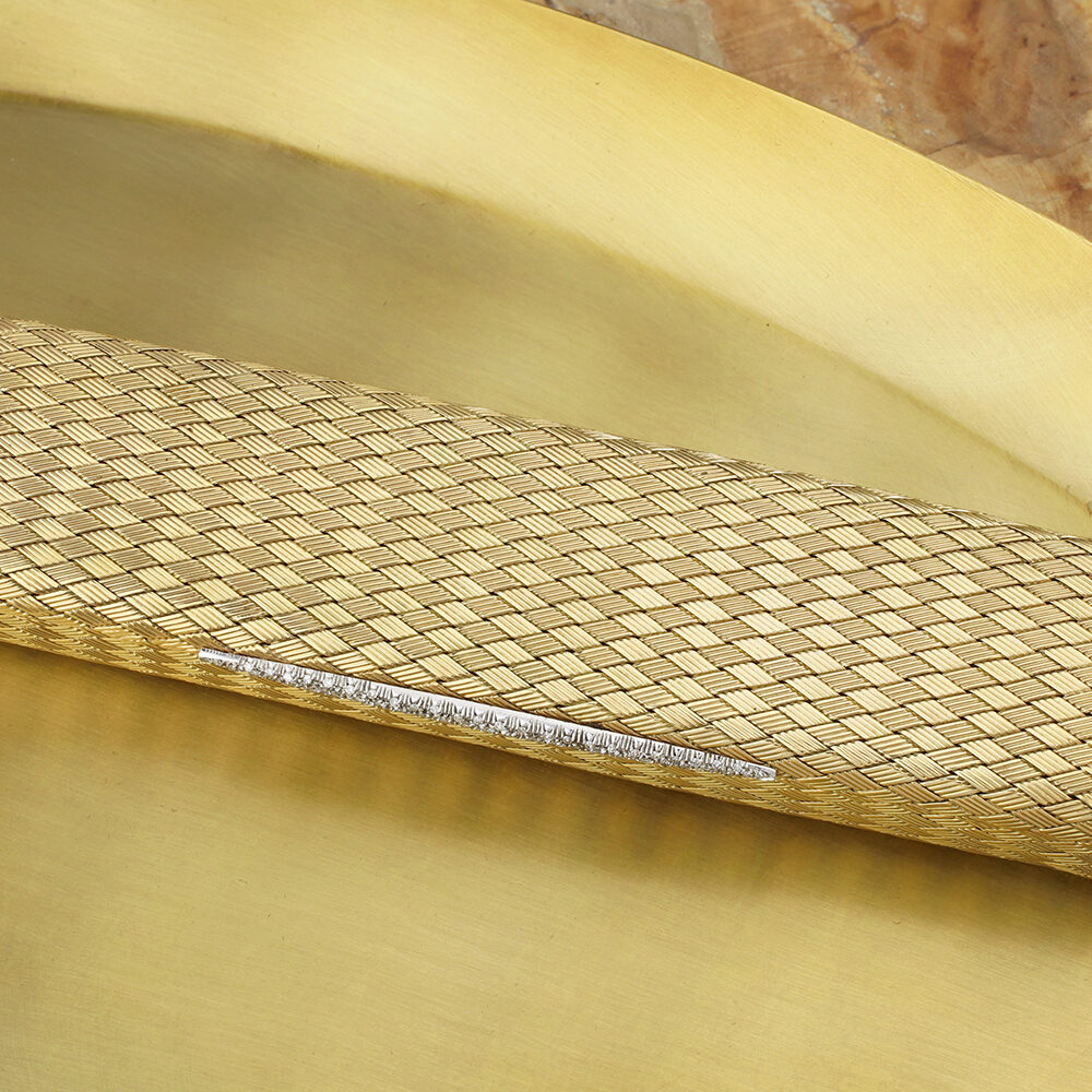 Gold and Diamond Evening Clutch