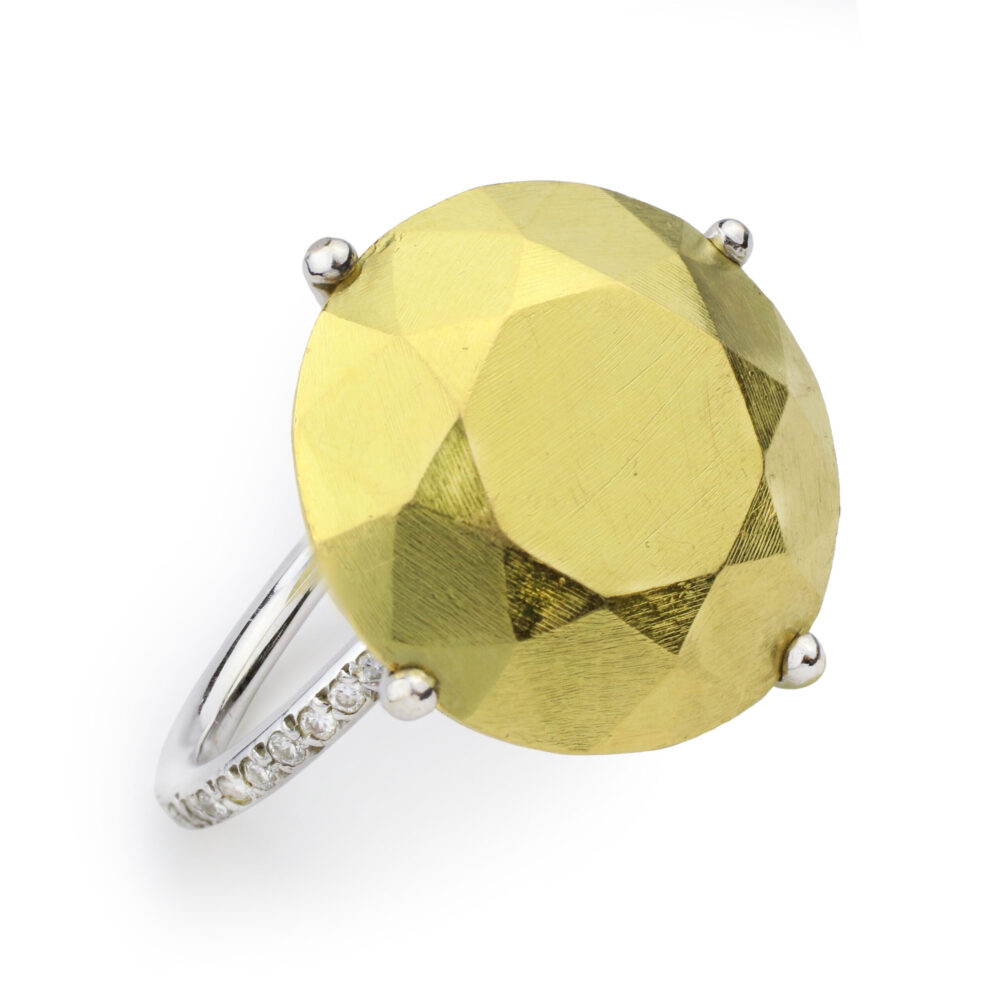 Diamond set Gold 'Solitaire' Ring
