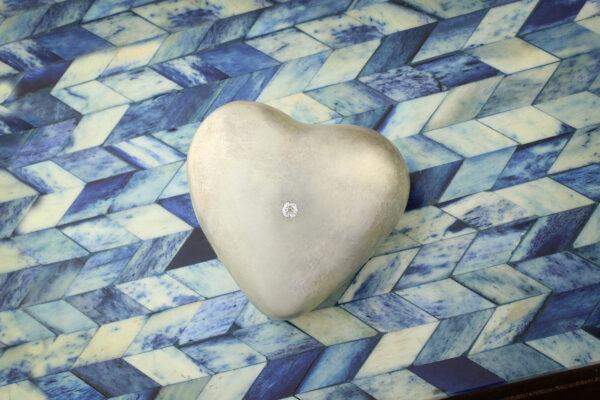 SABBA Sterling Silver Heart Paper Weight