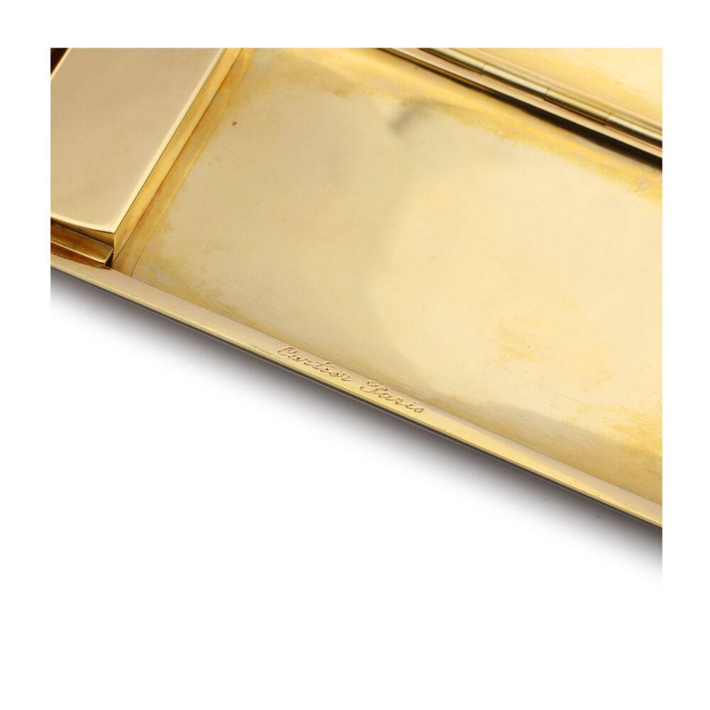 Cartier, Gold and Diamond Set Platinum Cigarette Case