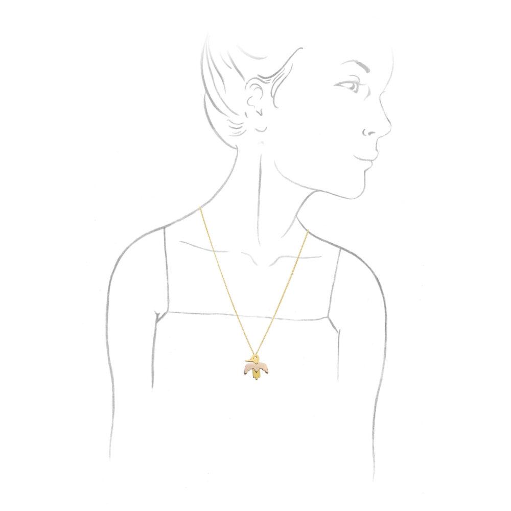 Aldo Cipullo 'Totem' Gold Pendant