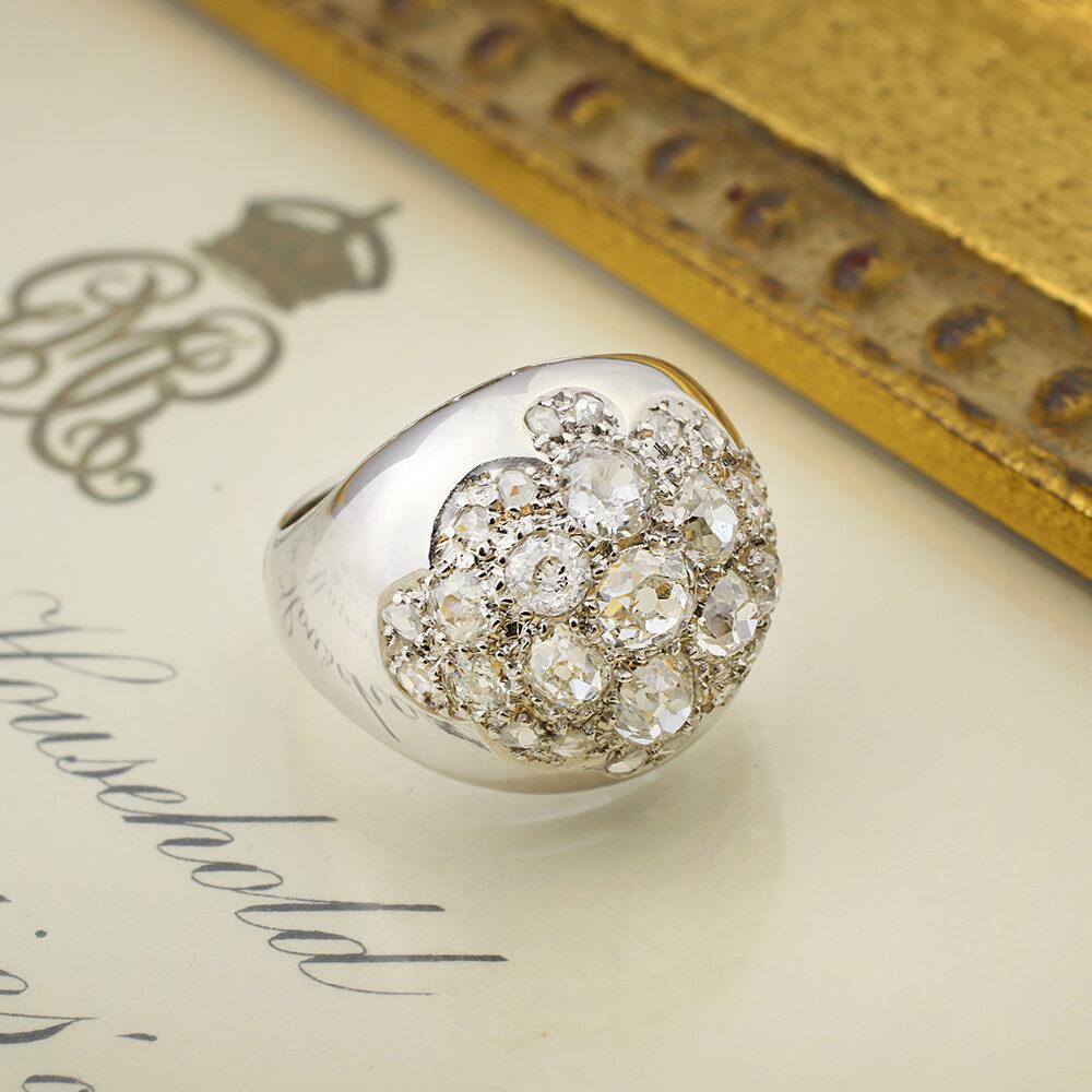 "Rene Boivin ""Bague Boule"" Diamond Ring"