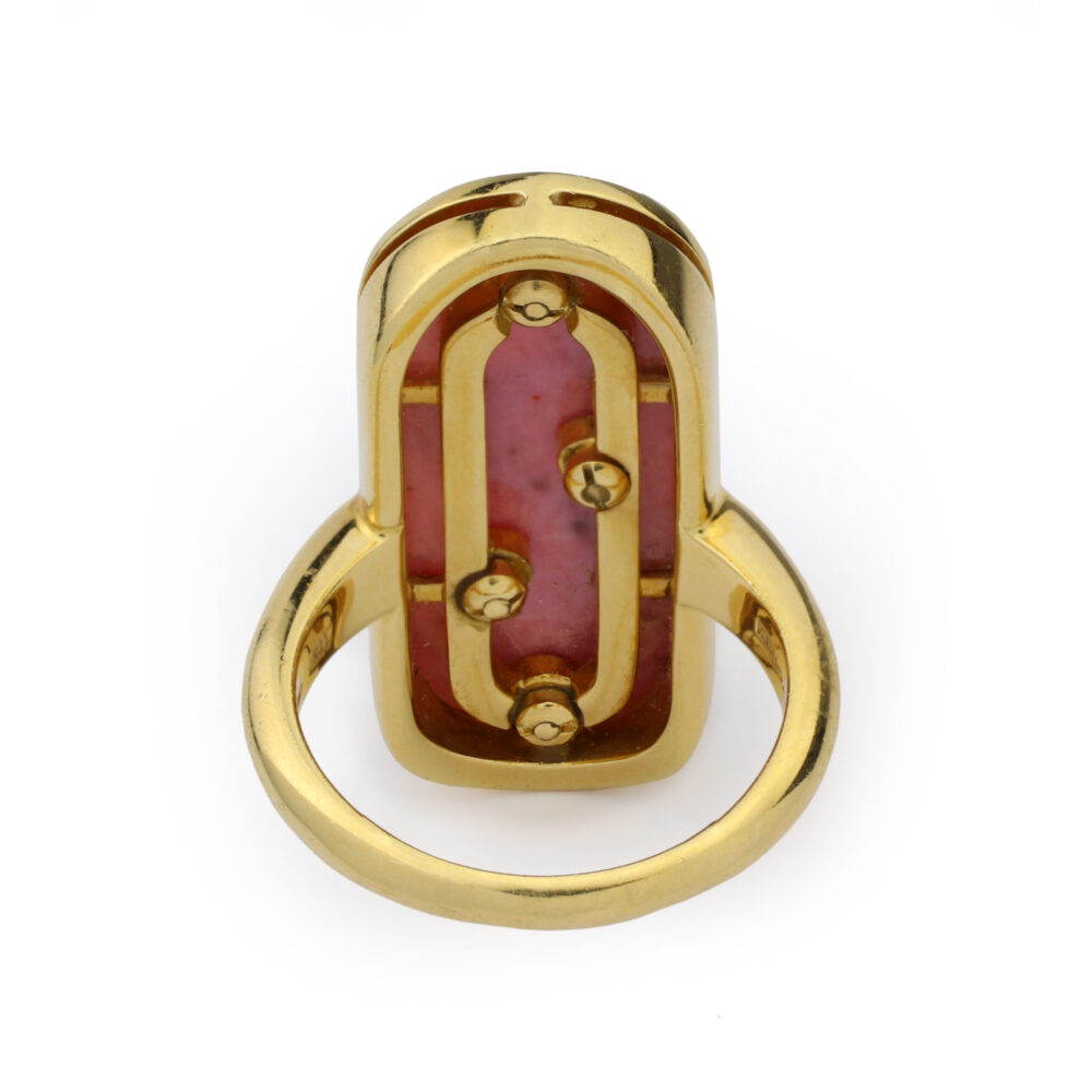 Bulgari Gold and Rhodochrosite Ring