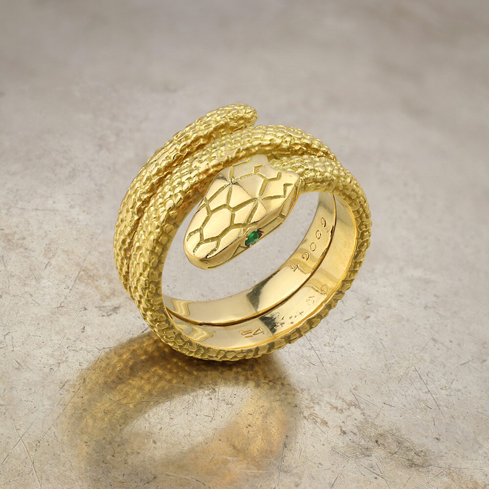 Cartier Gold and Emerald Snake Ring