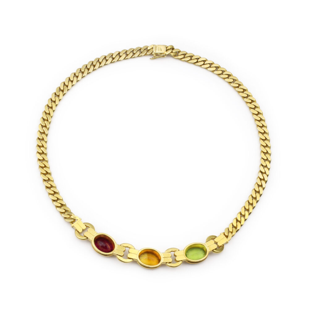 Bulgari Gem-Set Chain Necklace