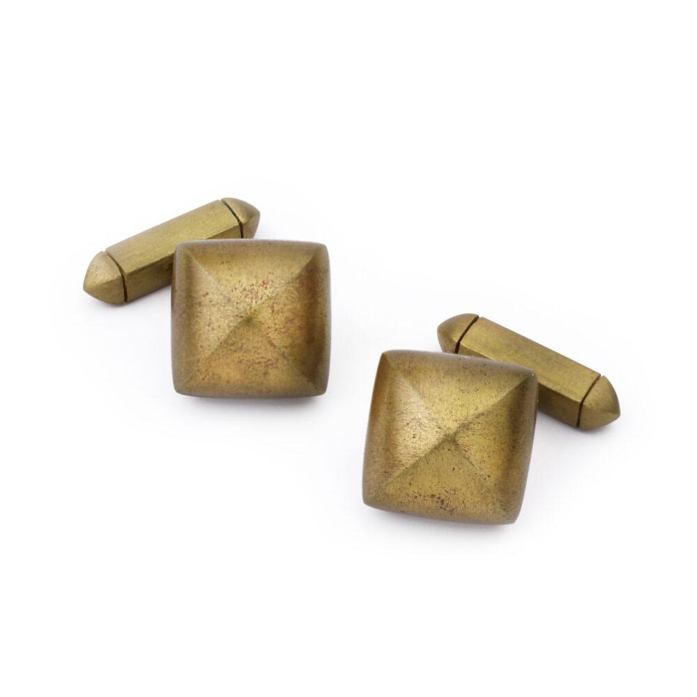 Hemmerle Bronze Pyramid Cufflinks