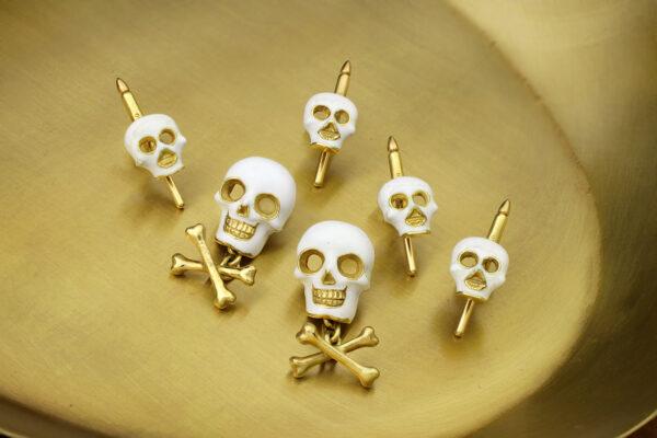 Enamel Skull And Cross Bone Dress Set