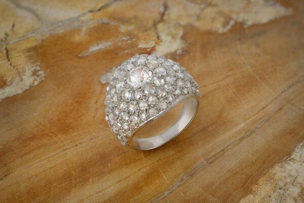 Diamond Set Boule Ring
