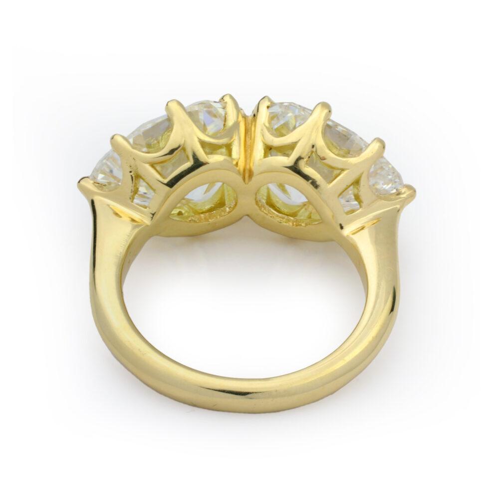 Pear Shaped Diamond Twin Stone Ring