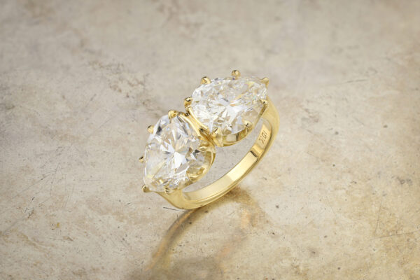 Pear Shaped Diamond Twin Stone Ring» Price On Request «