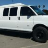 chevrolet express 4×4 van with coilover conversion