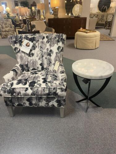 chair gray floral