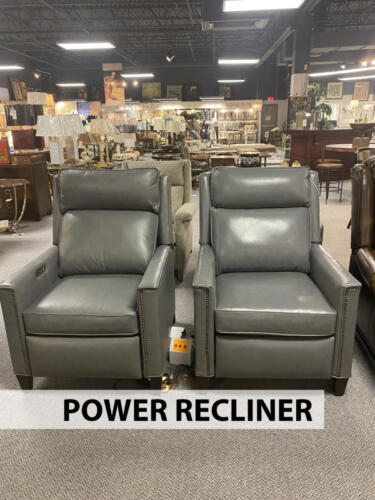 grey leather recliners