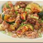 Zucchini Ground Pork StirFry