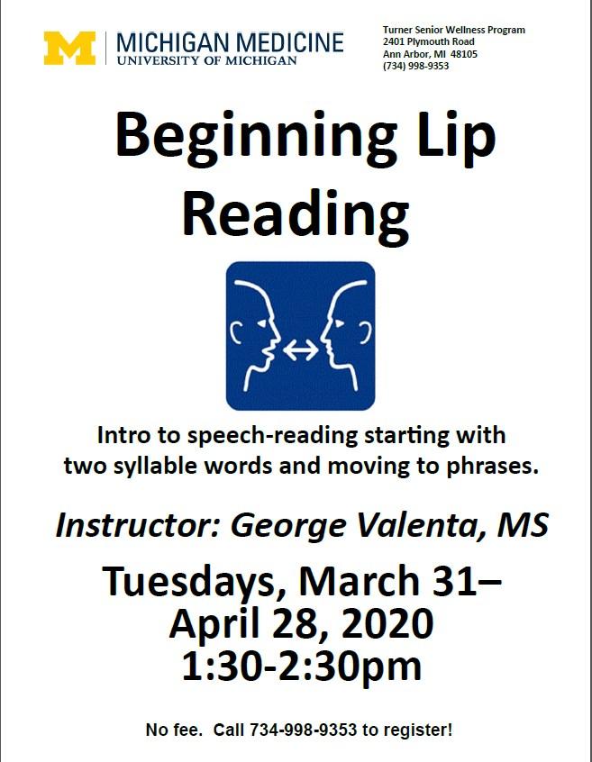 Beginning Lip Reading Class