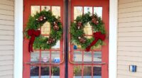 Special thanks to Shelly Cumpstone and Winterberry Farm for donating the gorgeous wreaths on our front doors!