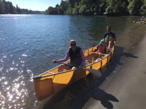 Wenonah Ultra Light Kevlar Canoe Family at George Rogers Park Oregon - www.PaddlePeople.us