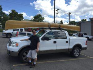 wenonah-seneca-canoe-on-pickup-truck - www.PaddlePeople.us