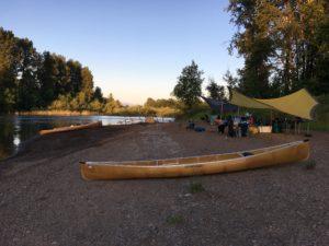Riverside Camp Willametter River Oregon Wenonah Canoes - www.PaddlePeople.us