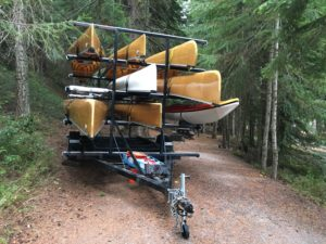 Canoe Trailer at Odell Lake Lodge Campsite in Oregon - www.PaddlePeople.us