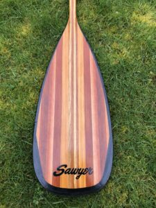 Sawyer Voyager Straight Wood Canoe Paddle Blade