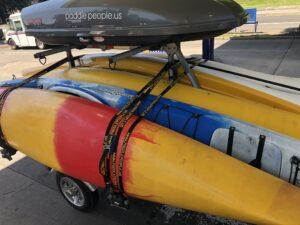 Malone MicroSport canoe kayak trailer in action