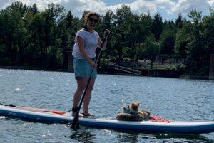 Pomeranian on PaddleBoard