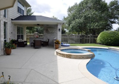 Patio cover and pool deck