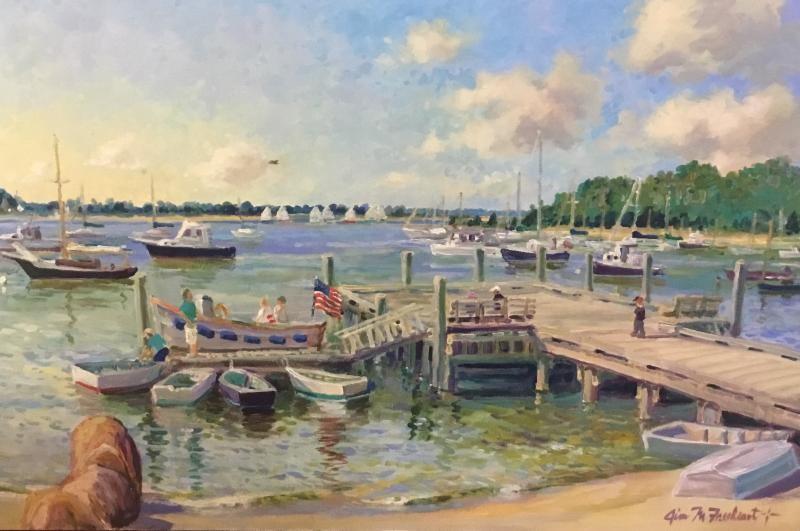 Quiet moment at cotuit town dock