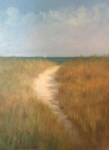 BEACH PATH   Oil on canvas   18 x 24   $2200