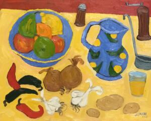 BEFORE THE MEAL  |   16 X 20  |  Oil on canvas  |  21 x 25 Framed   |  $1750