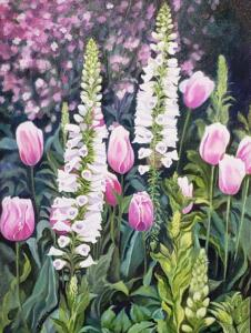 EARTH SMILES IN FLOWERS  |  Oil on canvas  |  24 x 18  |  25 x 19 Framed  |  $1,550