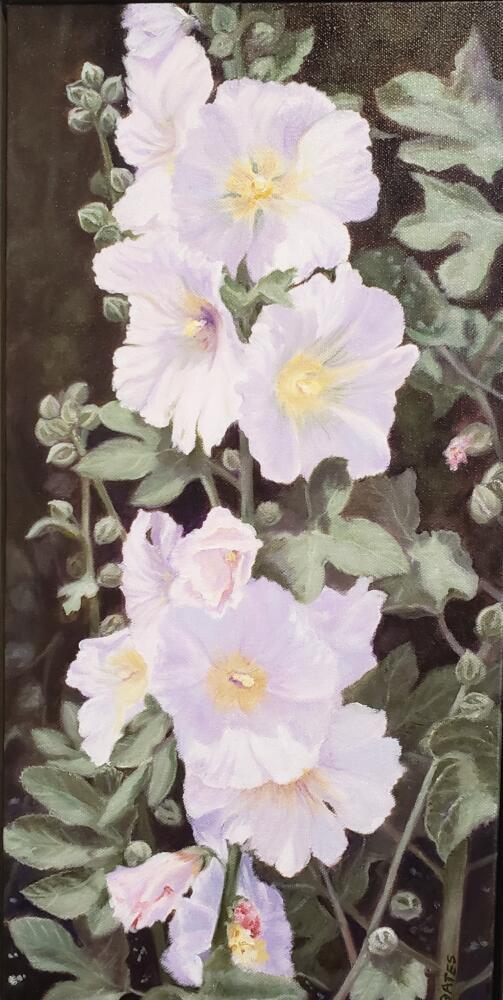 GARDEN HIGH RISE  |  Oil on canvas  |  20 x 10  |  21 x 11 Framed  | $975