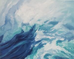STUDY FOR WAVELENGTH  |  Oil on canvas  |  8 x 10  | 9 x 11 Framed  |  $550