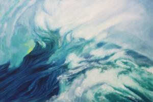 WAVELENGTH  |  Oil on canvas  |  24 x 36  |  25 x 37 Framed  |  $2,800