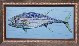 FUNNY TUNA  |  Acrylic on canvas  |  | 15 x 31.5  |  23 x 39.5 Framed  |  $3,000
