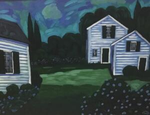 EDGARTOWN     Oil on canvas     20 x 24     22.5 x 26.5 Framed     $1800