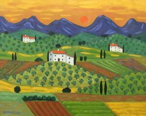 FIELDS OF UMBRIA  |  16 x 20  |  Oil on canvas  |  21 x 25  Framed  |  $1750