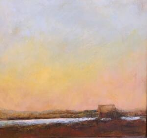 FINAL GLOW  |  Oil on panel  |  15 x 16  |  16 x 17 Framed  |  $1100