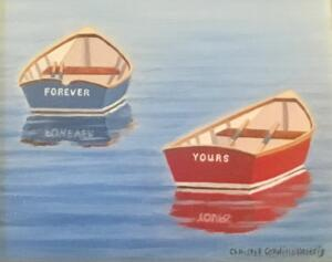 FOREVER YOURS  |  Oil on board  |  5 x 4  |  8.5 x 7.5 Framed  |  $375