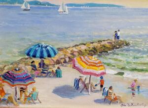 BEACH DAY IN OSTERVILLE  |  Acrylic on canvas  |  12 x 16  |  17 x 21 Framed  |  $1300