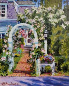 ROSE ARBOR  |  Acrylic on canvas  |  20 x 16  |  24.5 x 20.5 Framed  |  $1730