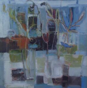 BLUE JAY WAY  |  Oil on canvas  |  24 x 24  |  25 x 25 Framed  |  $2400