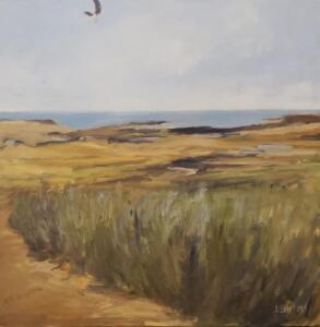 High Flying Bird  |  Oil on canvas  |  24 x 24  |  25 x 25 Framed  |  $2400