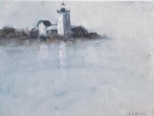 Lighthouse Love  |  Oil on canvas  |  9 x 12  |  10 x 13 Framed  |  $900