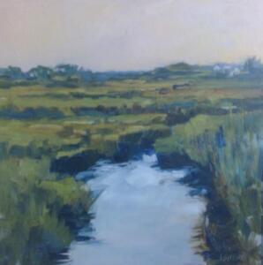 Salt Marsh  |  Oil on canvas  | 24 x 24  |  25 x 25 Framed  |  $2400