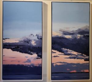 DARK SUNSET #1, #3 |  Oil on canvas |  48 x 24  | $1900per | $3800 set