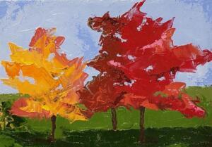 THREE TREES|   Oil on canvas|  5 x 7 | $350